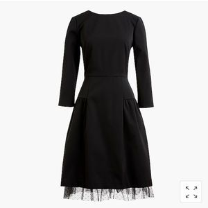 J. Crew Long-sleeve sheath dress with tulle hem